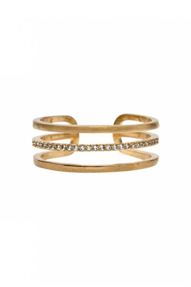 Dansk Smykkekunst Mix and Match Ring in Crystal and Gold