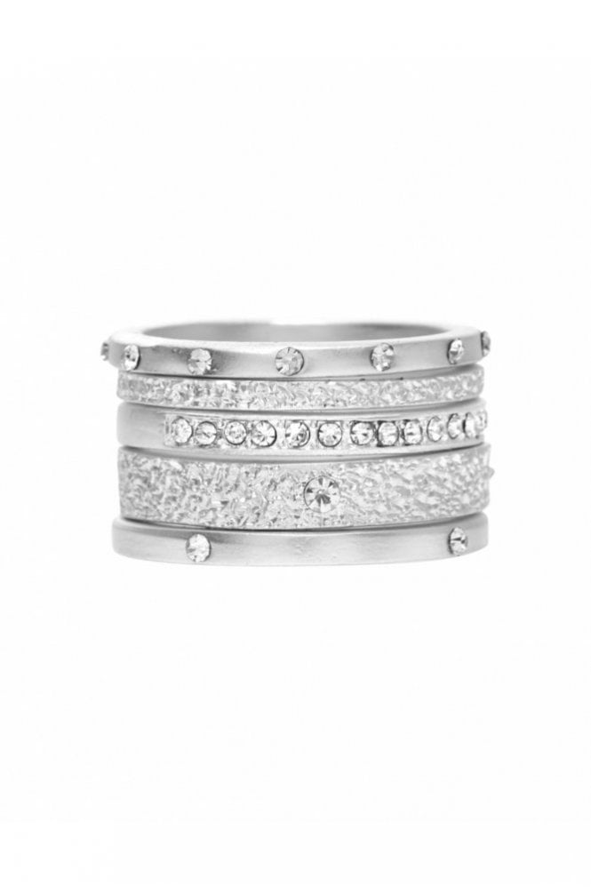Dansk Smykkekunst Mix and Match Ring in Silver and Crystal