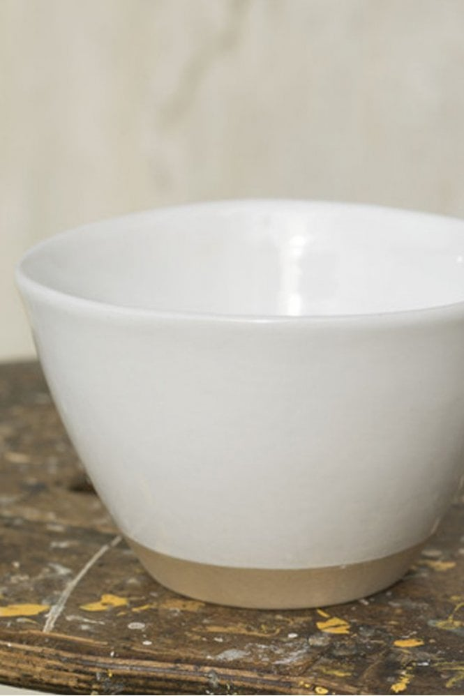 Dassie Rice Bowl in Dipped White
