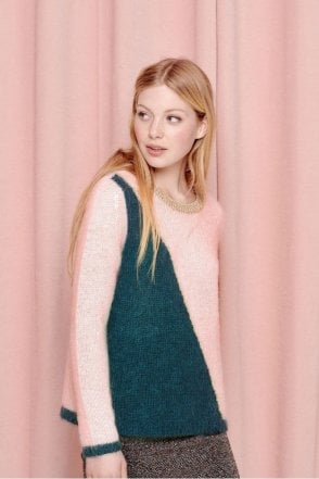 Ajinette Sweater in Pale Rose/Canard