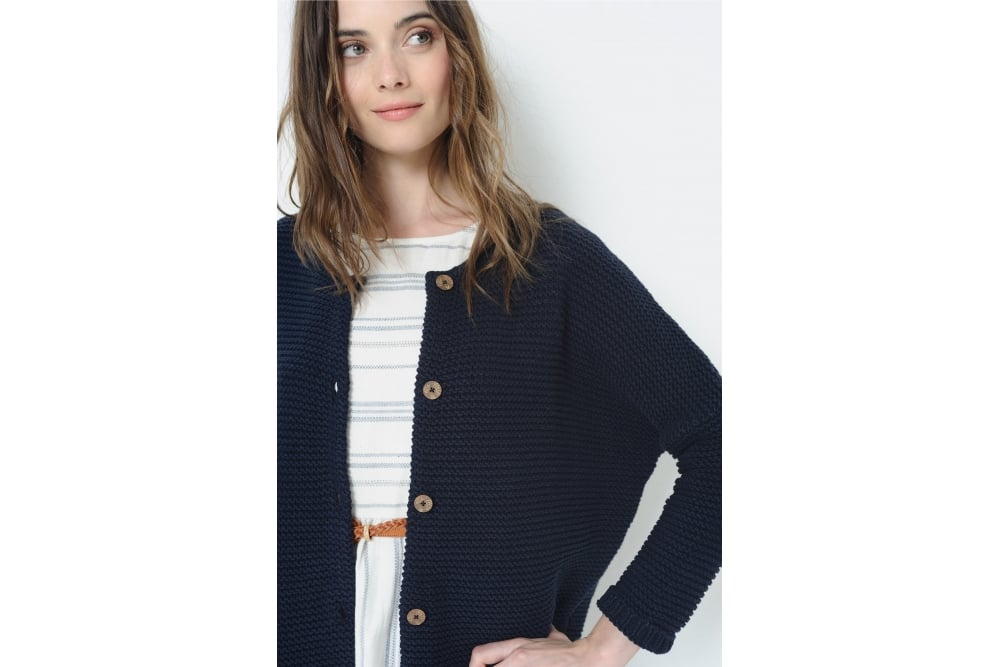 des petits hauts almaric cardigan in navy at sue parkinson. Black Bedroom Furniture Sets. Home Design Ideas