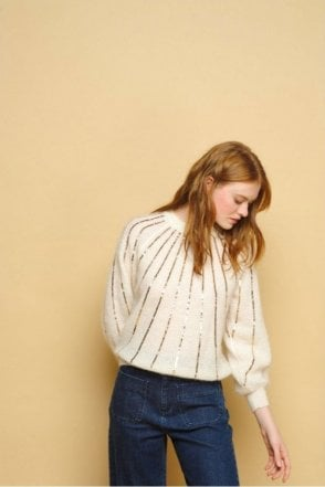 Banille Sweater in Ecru
