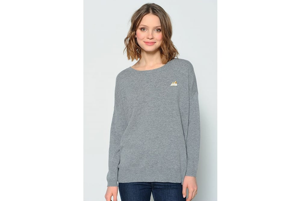 Des Petits Hauts Clergerie Sweater In Heather Grey At Sue