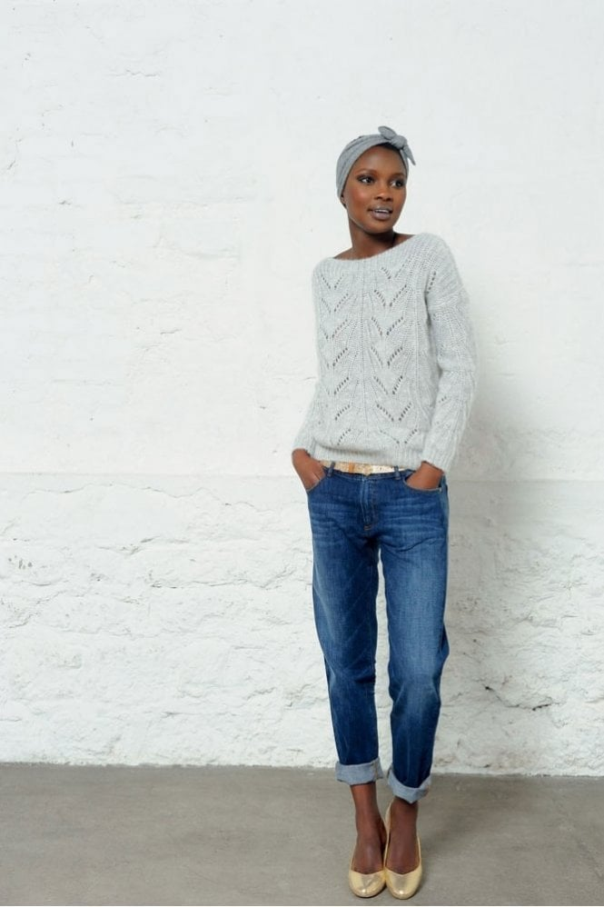 Des Petits Hauts Cocot Sweater in Heather Grey