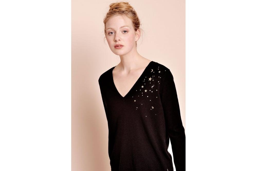 Des Petits Hauts Debralta Sweater In Noir At Sue Parkinson