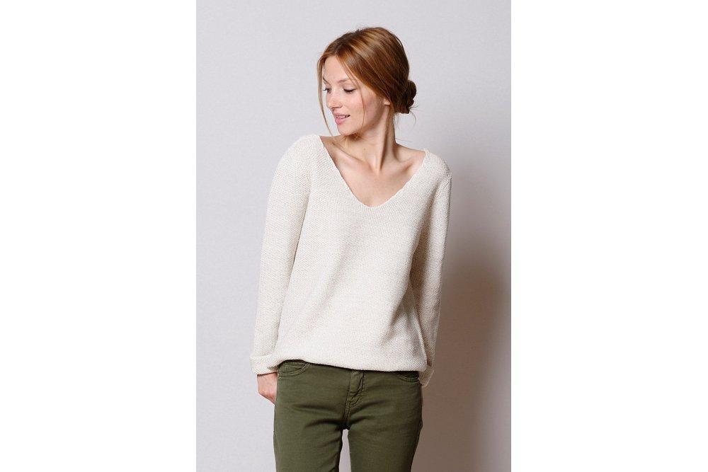 Des Petits Hauts White Dragee Sweater Sue