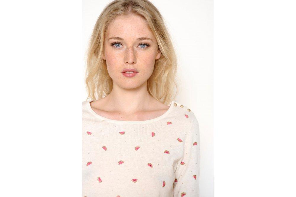 Des Petits Hauts Ecru Alinou Sweater At Sue Parkinson