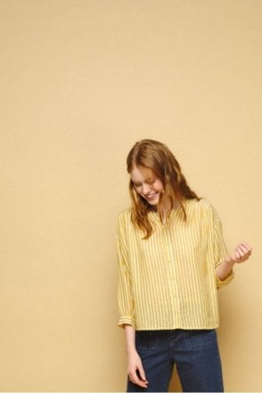Erel Striped Blouse in Gold