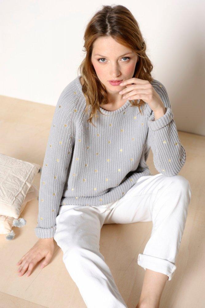 Des Petits Hauts Grey Cridon Sweater At Sue Parkinson