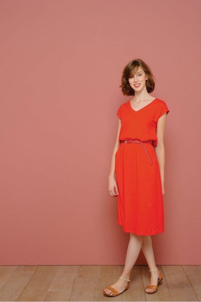 Des Petits Hauts Ilomi Dress in Red