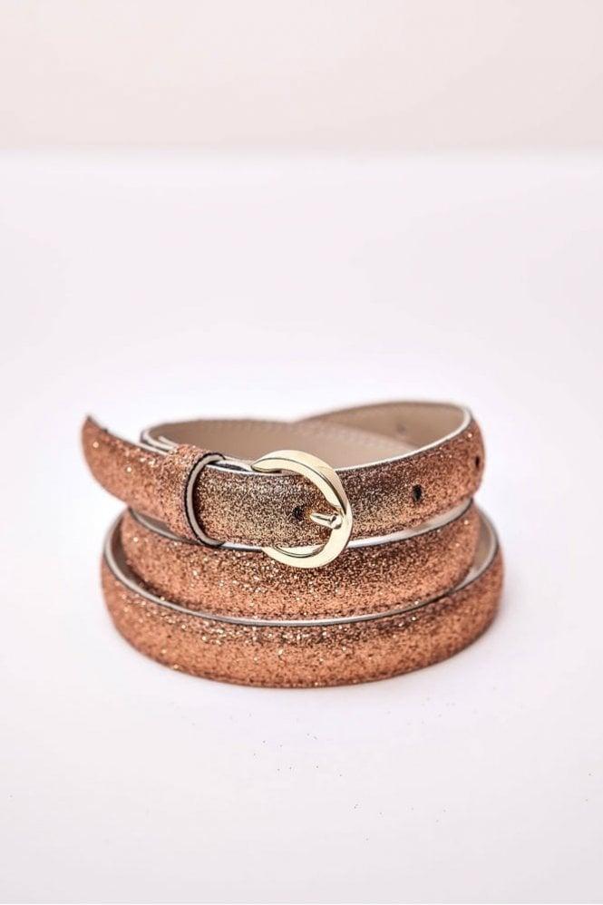 Des Petits Hauts Lorietta Glitter Belt in Copper