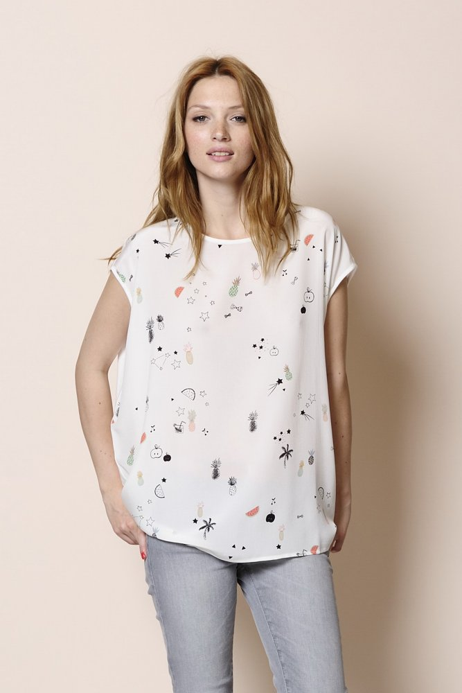 Des Petits Hauts Neige Short Sleeved T Shirt Sue