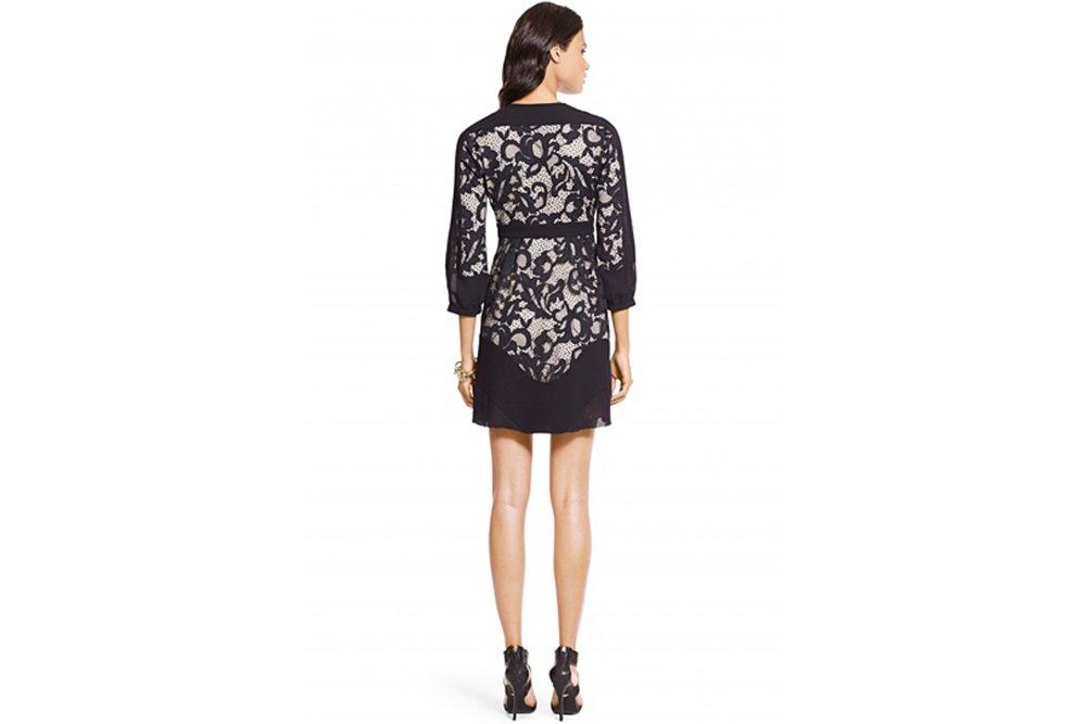 Dvf fern floral lace dress
