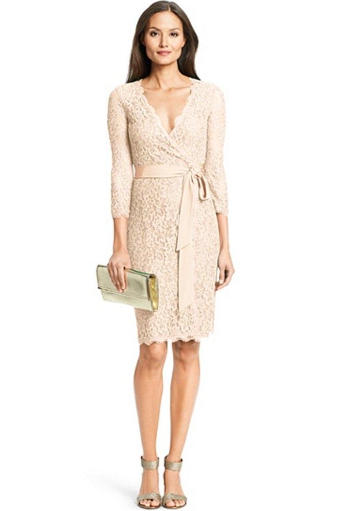 Diane Von Furstenberg Julianna Lace Wrap Dress In Heaven