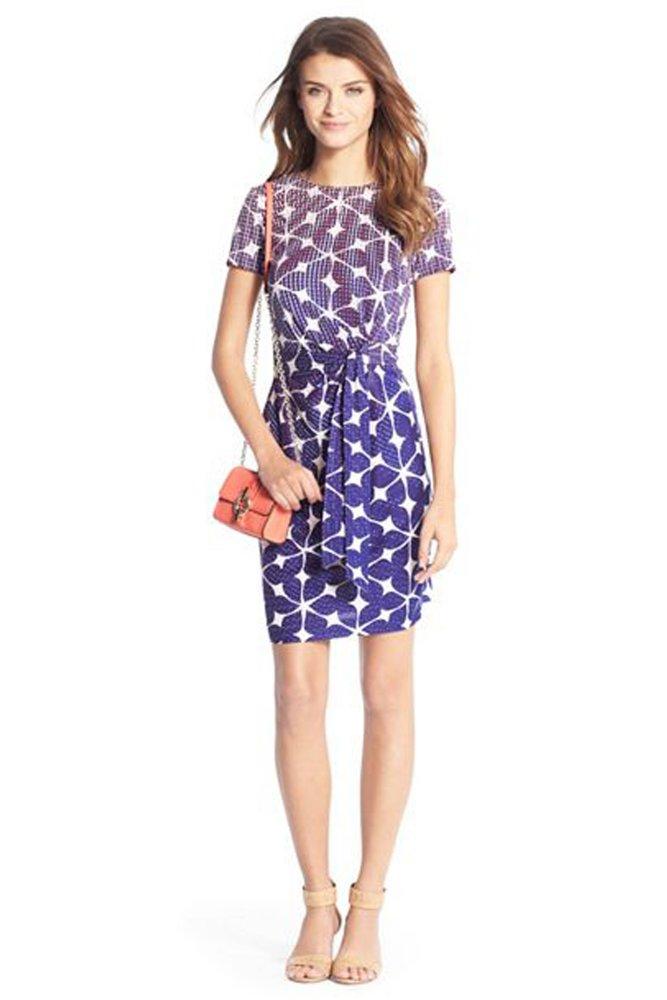 Diane von furstenberg zoe short sleeve silk jersey dress for Diane von furstenberg clothing