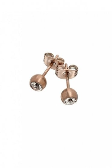Dew Studs in Matt Rose Gold