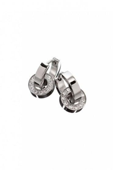 Eternity Orbit Earrings in Steel