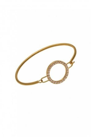 Glow Bangle in Matt Gold
