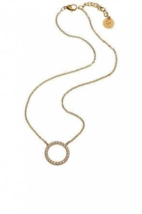 Glow Short Necklace in Matt Gold