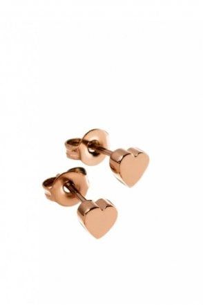 Heart Studs Mini Rose Gold