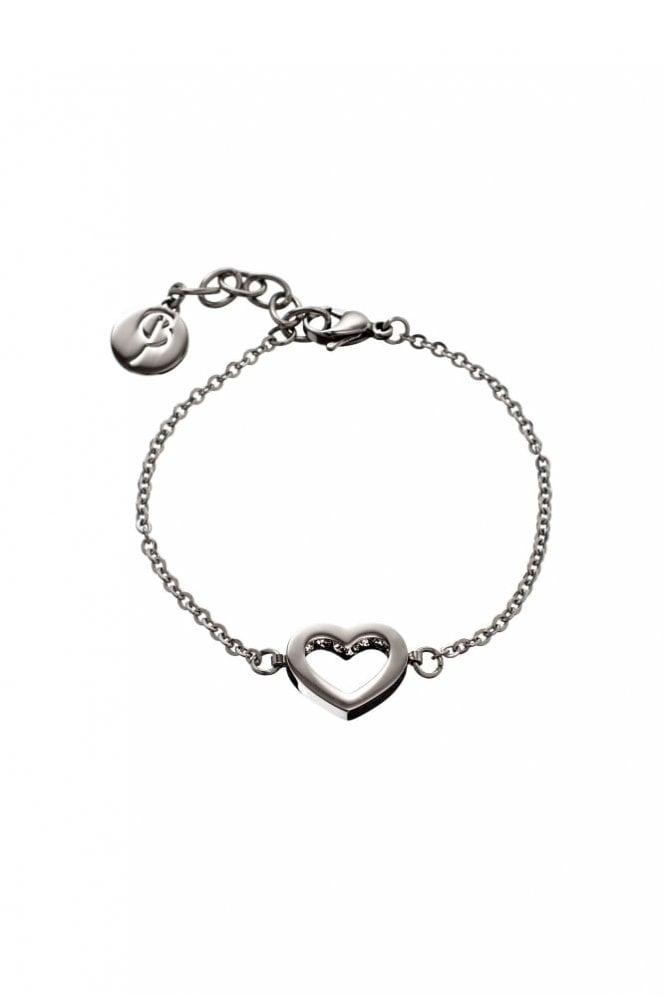 EDBLAD Monaco Heart Thin Bracelet in Steel