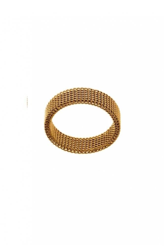 EDBLAD Sand Medium Ring Thin in Matt Gold