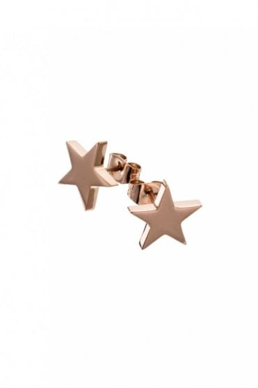 Star Studs Large in Rose Gold