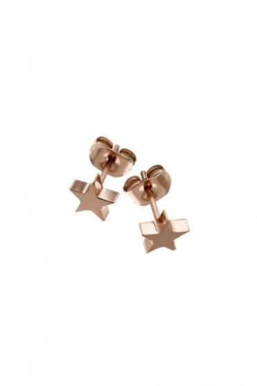 Star Studs Small in Rose Gold