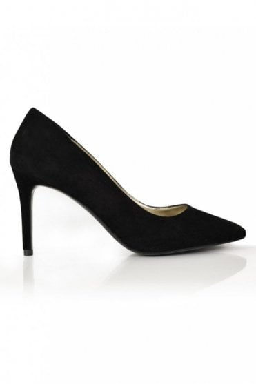 City Girls Suede Court in Black