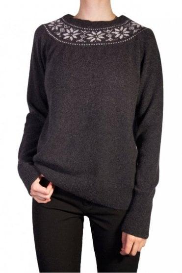 Fairisle Sweater in Charcoal