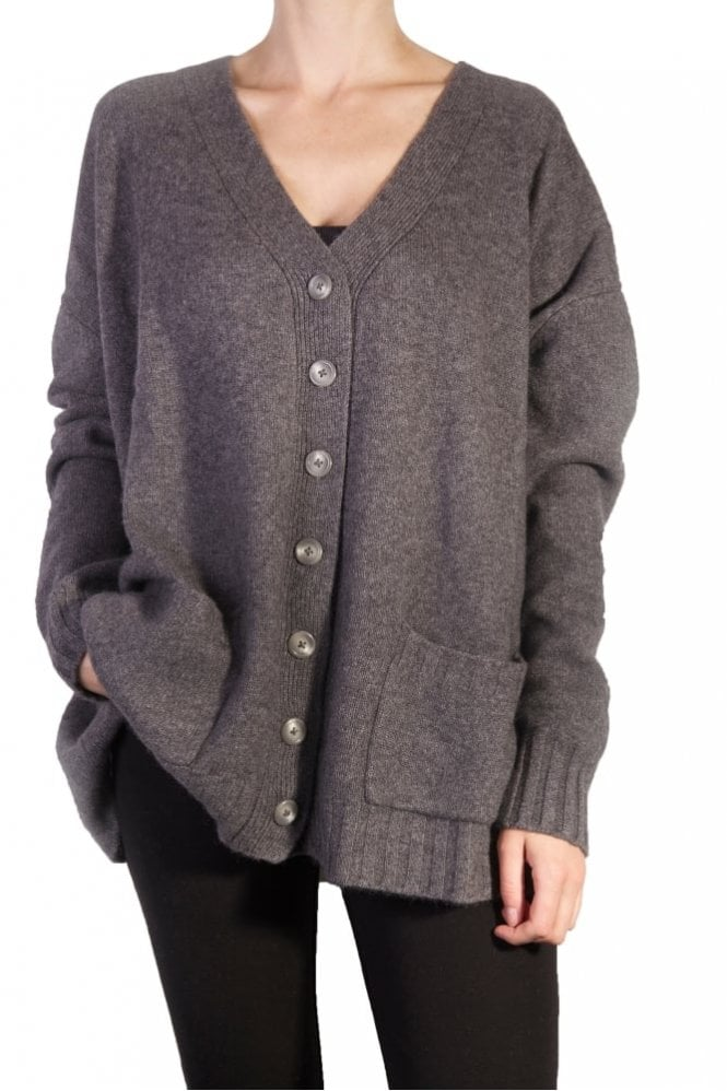 English Weather Oversize Cardigan in Derby Grey
