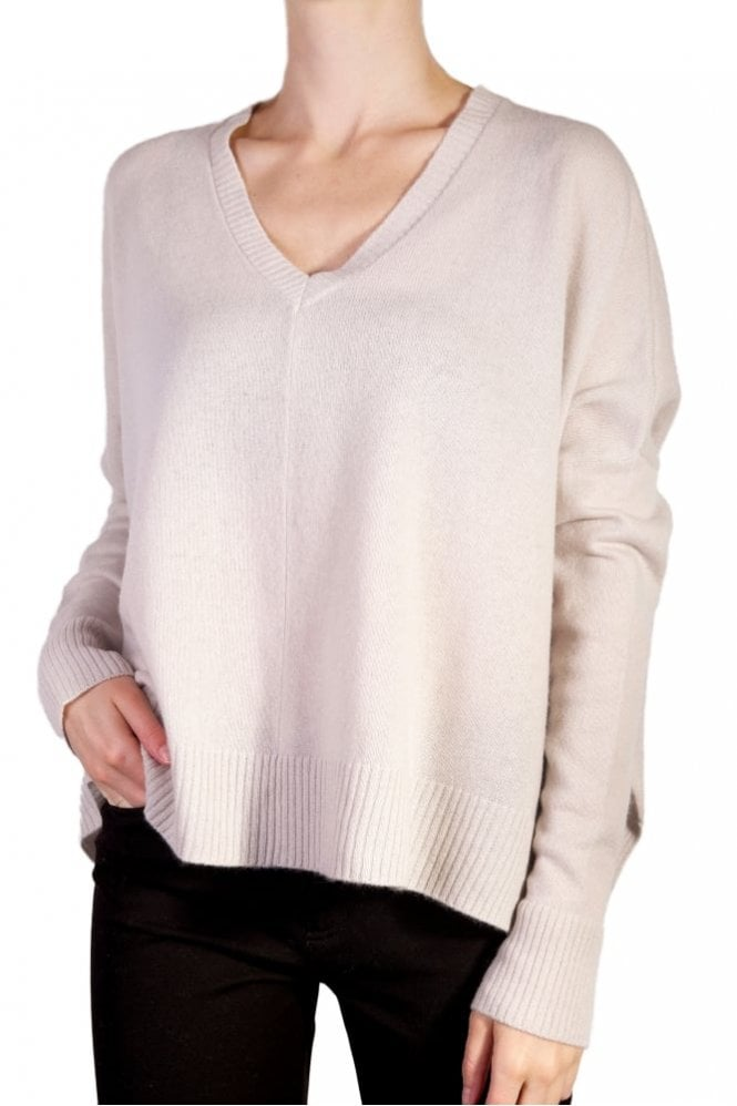 English Weather Short Slouchy Sweater in Limewash
