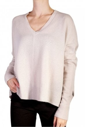 Short Slouchy Sweater in Limewash