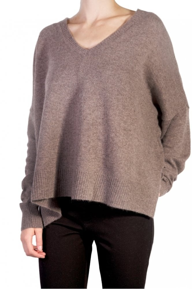 English Weather Short Slouchy Sweater in Toast