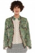 Essentiel Antwerp Green Frayed Edge Coco Jacket