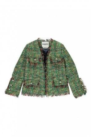 Green Frayed Edge Coco Jacket