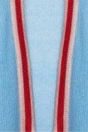 Essentiel Antwerp Patrimonio Light Blue Open Cardigan with Lurex Trimming