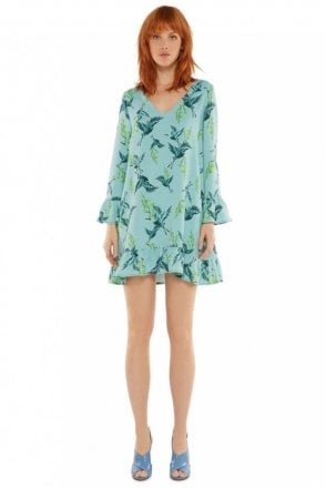 Pondicon Bird Print Dress