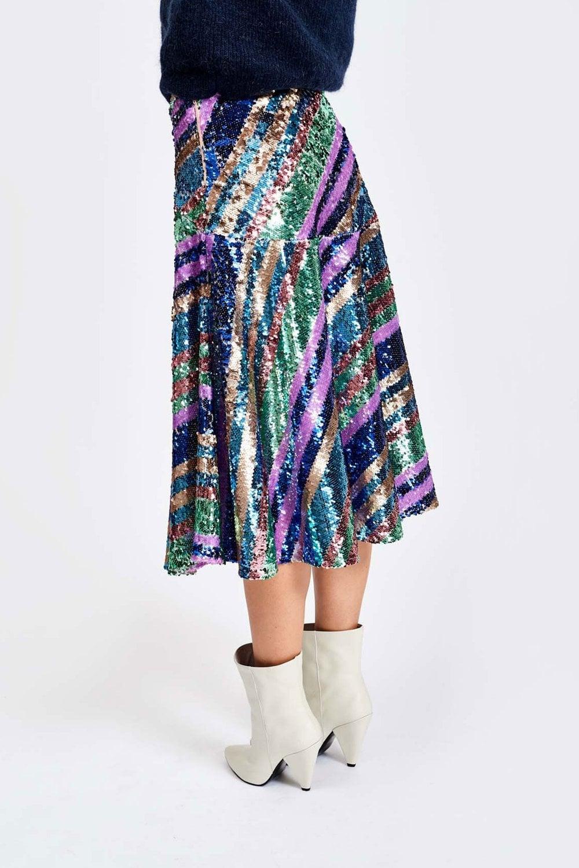 24d5e53a8d Essentiel Antwerp Salute Sequin Skirt at Sue Parkinson