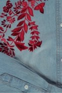 Essentiel Antwerp Embroidered Denim Shirt