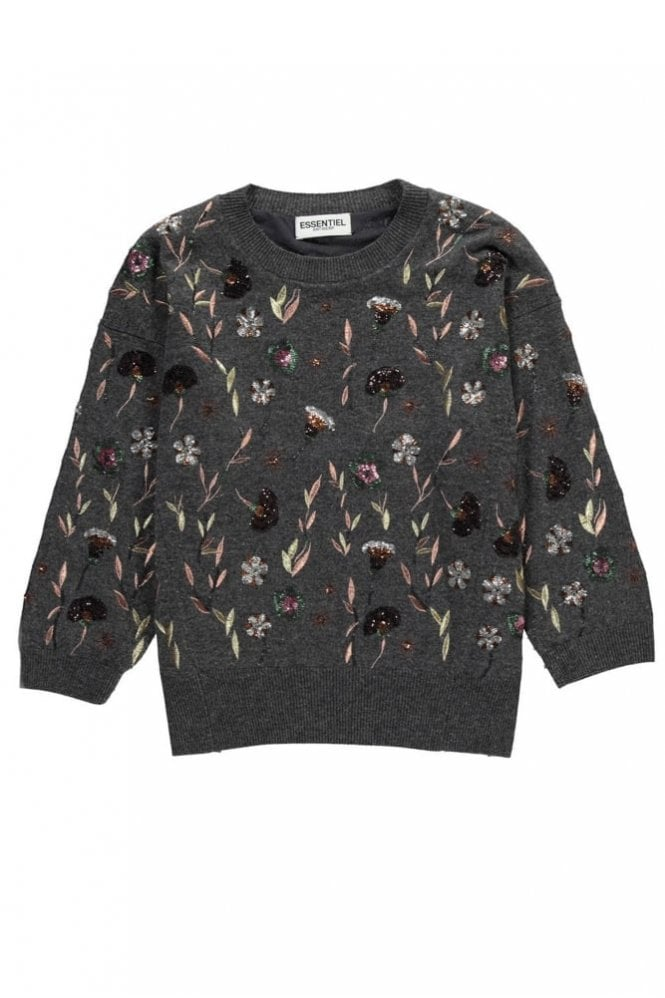 Essentiel Embroidered Wool Sweater