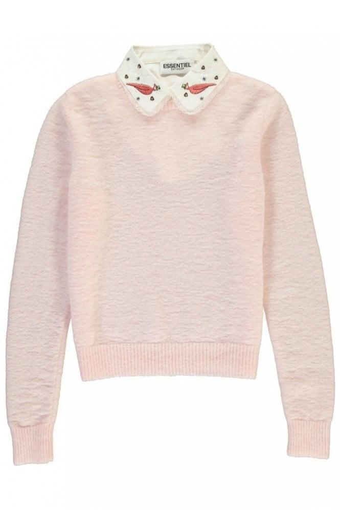 Essentiel Antwerp Paraty Pink Mohair Blend Sweater
