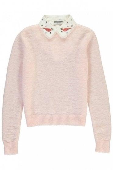 Paraty Pink Mohair Blend Sweater