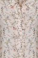 Essentiel Pia White/Blue Ruffled Floral Print Shirt
