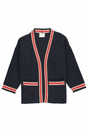 Piment Midnight Blue Stripe Detail Cardigan