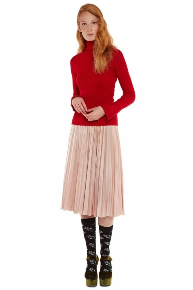 Essentiel Pleated Midi Skirt
