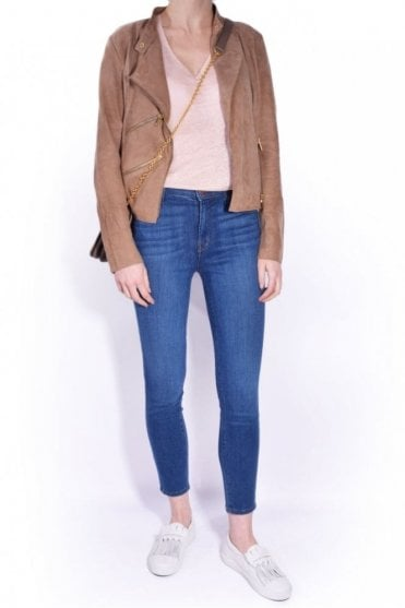 Suede Paris Jacket in Tan