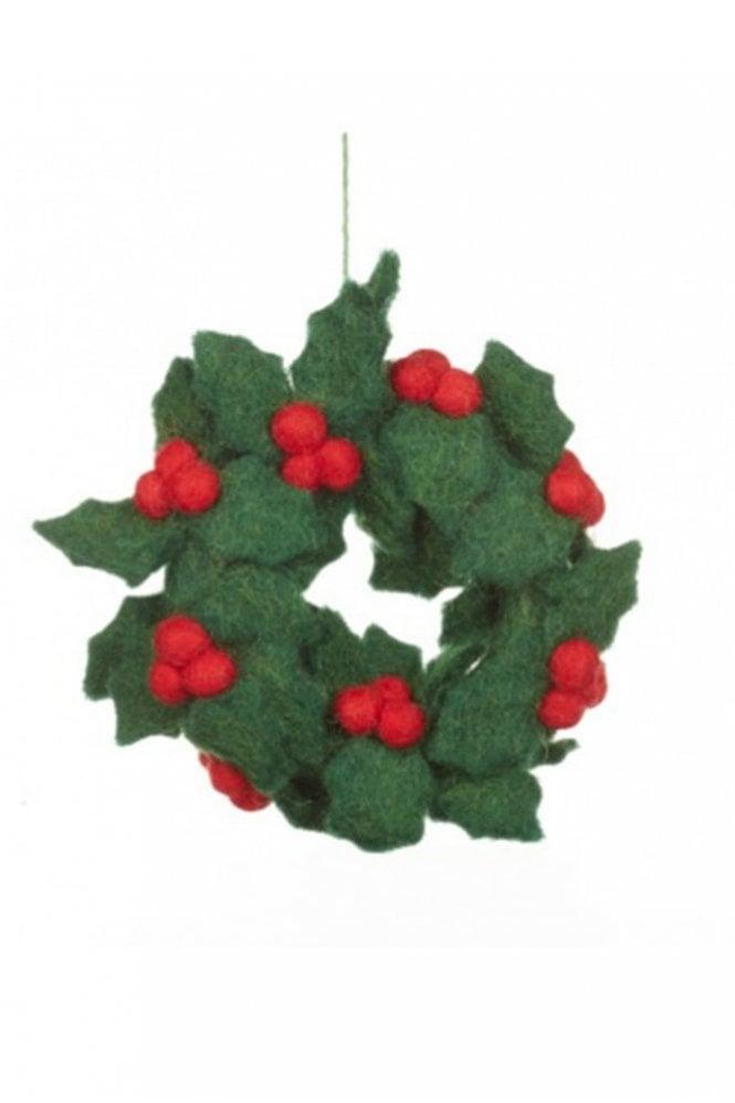 Felt So Good Mini Holly Wreath