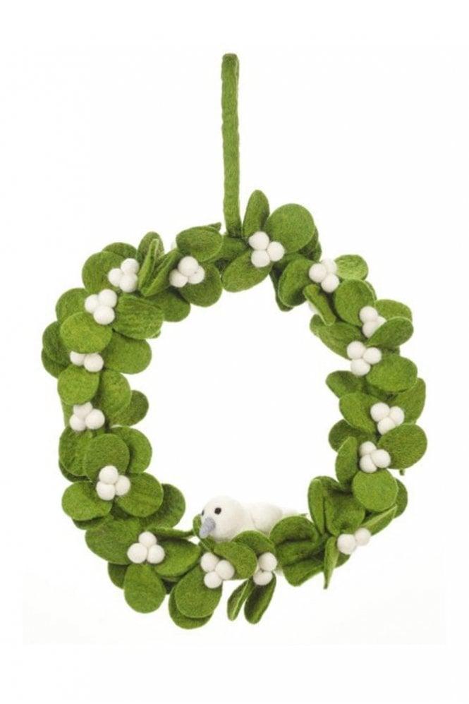 Felt So Good Mistletoe Wreath with Dove