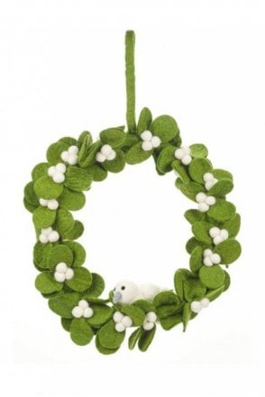 Mistletoe Wreath with Dove
